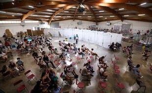 Un centre de vaccination à Perpignan, le 18 juillet 2021.