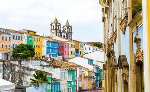 Le quartier de Pelourinho est l'un des plus colorés de la ville de Salvador de Bahia.