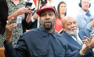 Le chanteur Kanye West lors de sa visite à la Maison Blanche