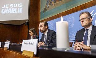 Au siège des agences de l'ONU à Genève, le 9 janvier 2015, en Suisse.
