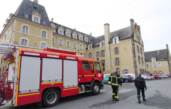 La caserne de pompiers est installée dans le palais Saint-Georges, à Rennes.