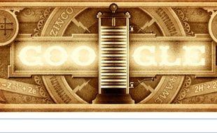 «Doodle» célébrant les 270 ans d'Alessandro Volta, 18 février 2015.