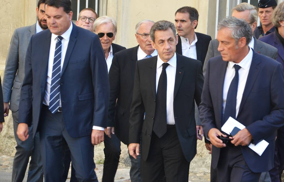 Nicolas Sarkozy, aux obsèques de Louis Nicollin. – N. Bonzom / Maxele Presse