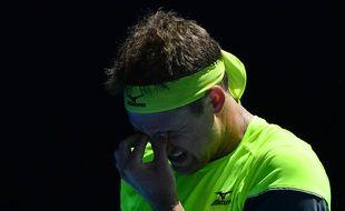 Tennys Sandgren à l'Open d'Australie, le 24 janvier 2018.