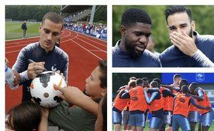 Les Bleus en préparation à la Coupe du monde 2018 à Clairefontaine.