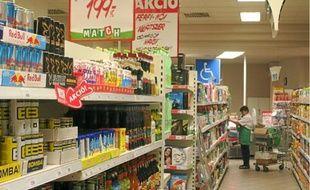 Les entreprises, ici les supermarchés Match, sont visées par une taxe sur le chiffre d'affaires.