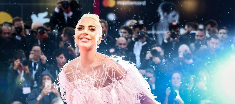 Lady Gaga sur le tapis rouge de «A Star is Born» à la Mostra de Venise, le 31 aoû 2018.