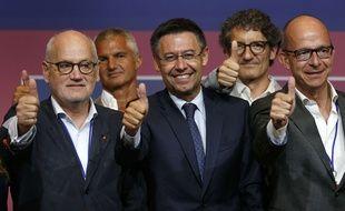 Josep Bartomeu (au centre), le président du Barça, veut faire du club catalan le plus puissant du monde.