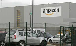 Les entrepôts d'Amazon à Lauwin Planque dans le Nord.