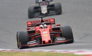 Sebastian Vettel lors du Grand Prix de Chine 2019.