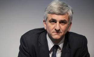 Hervé Morin, ex-candidat du Nouveau Centre à la présidentielle, lors d'un débat sur l'Europe fédérale, le 20 janvier 2012 à Nantes (Loire-Atlantique).