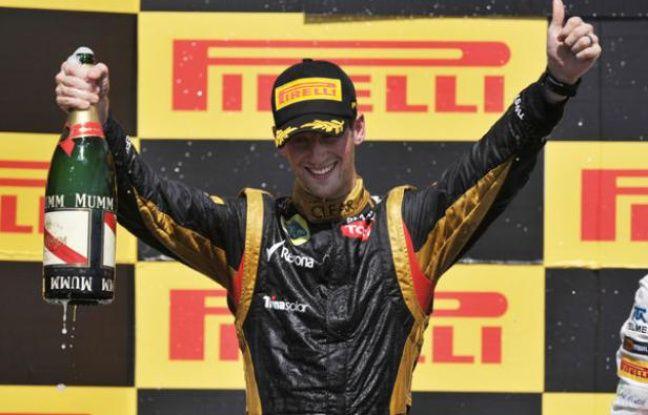 Le pilote français Romain Grosjean a terminé avec sa Lotus deuxième du Grand Prix du Canada le 11 juin 2012.