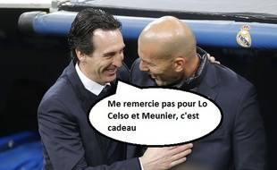 Emery et Zidane complices après la victoire du Real sur le PSG (3-1).