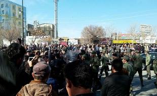 Une manifestation à Dourod en Iran, le 1er janvier 2018.
