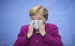 Angela Merkel à Berlin le 14 octobre 2020.