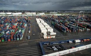 Vue du port du Havre (Seine-Maritime)
