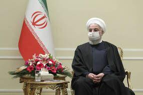 Le président iranien Hassan Rohani, à Téhéran le 7 mars 2021.