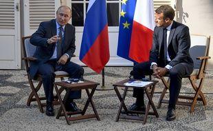 Emmanuel Macron a reçu ce lundi son homologue russe Vladimir Poutine, ans sa résidence d'été dans le sud-est de la France.