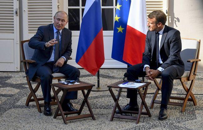 Rencontre franco-russe à Brégançon: Macron plaide devant Poutine pour un rapprochement entre l'UE et la Russie
