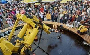 Le Bistromatik était à pied d'œuvre cet été à Douarnenez pour les fêtes maritimes.