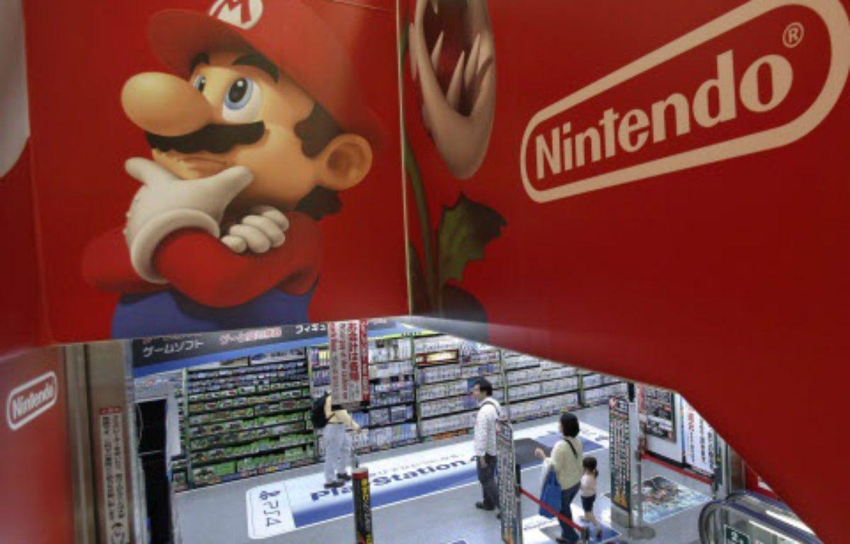Une publicité de Nintendo dans un magasin d'électronique à Tokyo, le 7 mai 2014. – Shizuo Kambayashi/AP/SIPA