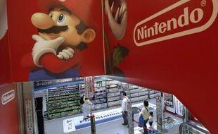 Une publicité de Nintendo dans un magasin d'électronique à Tokyo, le 7 mai 2014.