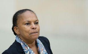 La ministre de la Justice, Christiane Taubira, le 14 octobre 2015 à l'Elysée