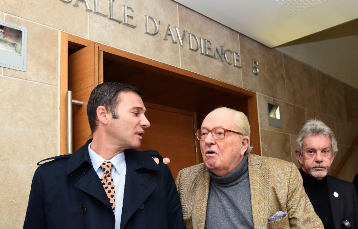 Jean-Marie Le Pen durant un procès – BORIS HORVAT