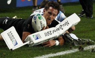 L'ouvreur de la Nouvelle-Zélande, Aaron Cruden, le 9 octobre 2011 contre l'Argentine.