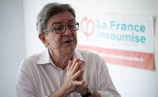 Jean-Luc Mélenchon en conférence de presse à Marseille, le 6 juin 2020.