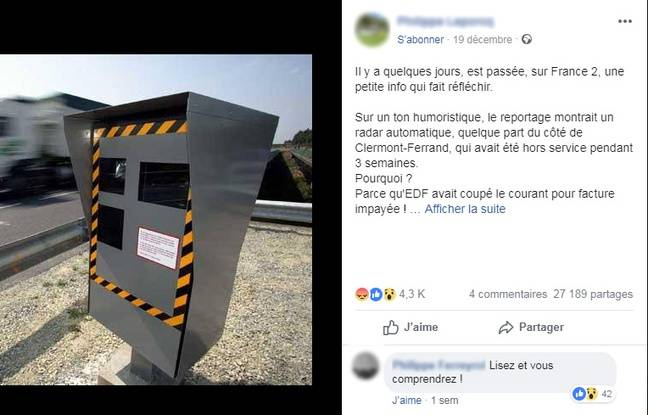 Le post Facebook très partagé qui dénonce une « spéculation sur la sécurité routière »