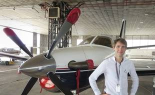 Aéroport d'Enthzeim, le 14 septembre 2015 - Jean Gay, le fondateur de la compagnie d'aviation privée Altijet.