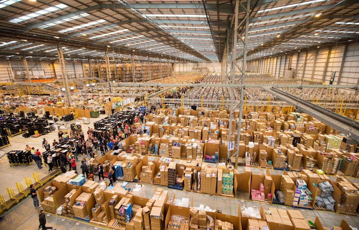 Illustration: un entrepôt d'Amazon. – REX/SIPA