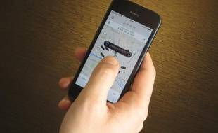 L'appli Uber facilite le covoiturage, le 04 février 2014.