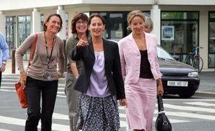Ségolène Royal et Delphine Batho le 31 août 2007 à La Rochelle.