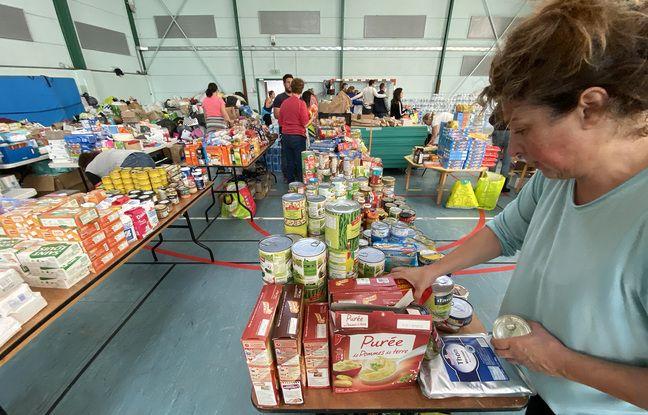 Les dons sont stockés au gymnase de Breil-sur-Roya en attendant d'être dispatchés dans la vallée