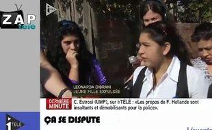 Capture d'écran du zap télé du 21 octobre 2013.