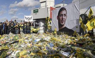 Lors de l'hommage à Emiliano Sala, à Nantes. (archives)