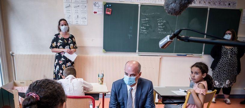 Jean-Michel Blanquer lors de la rentrée scolaire