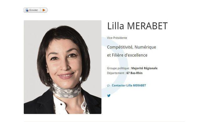 Lilla Merabet est vice-présidente de la région Grand Est chargée de l'innovation et de la recherche.