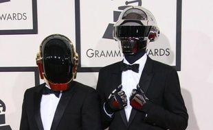 Les Daft Punk, aux Grammy Awards, à Los Angeles, le 26 janvier 2014.