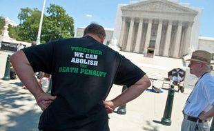 Manifestation contre la peine de mort devant la Cour Suprême des Etats-Unis, le 29 juin 2013