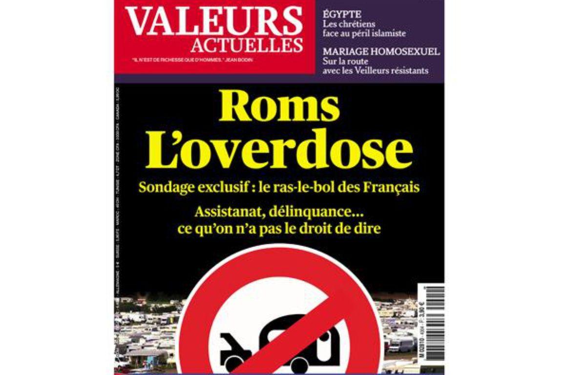 """La une de l'hebdomadaire """"Valeurs actuelles"""" datée du 22 août 2013. – Valeurs actuelles"""