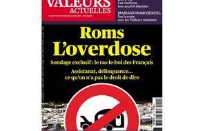 """La une de l'hebdomadaire """"Valeurs actuelles"""" datée du 22 août 2013."""