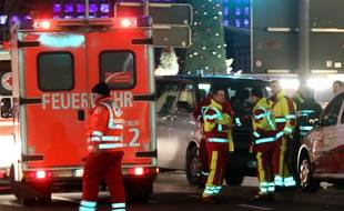 An articulated lorry has ploughed into a busy Christmas market on December 19, 2016  in the heart of Berlin, Germany killing 12 people and injuring 50. //ENPOL_001188/Credit:Szkocki/PRS/ENPOL/SIPA/1612201133