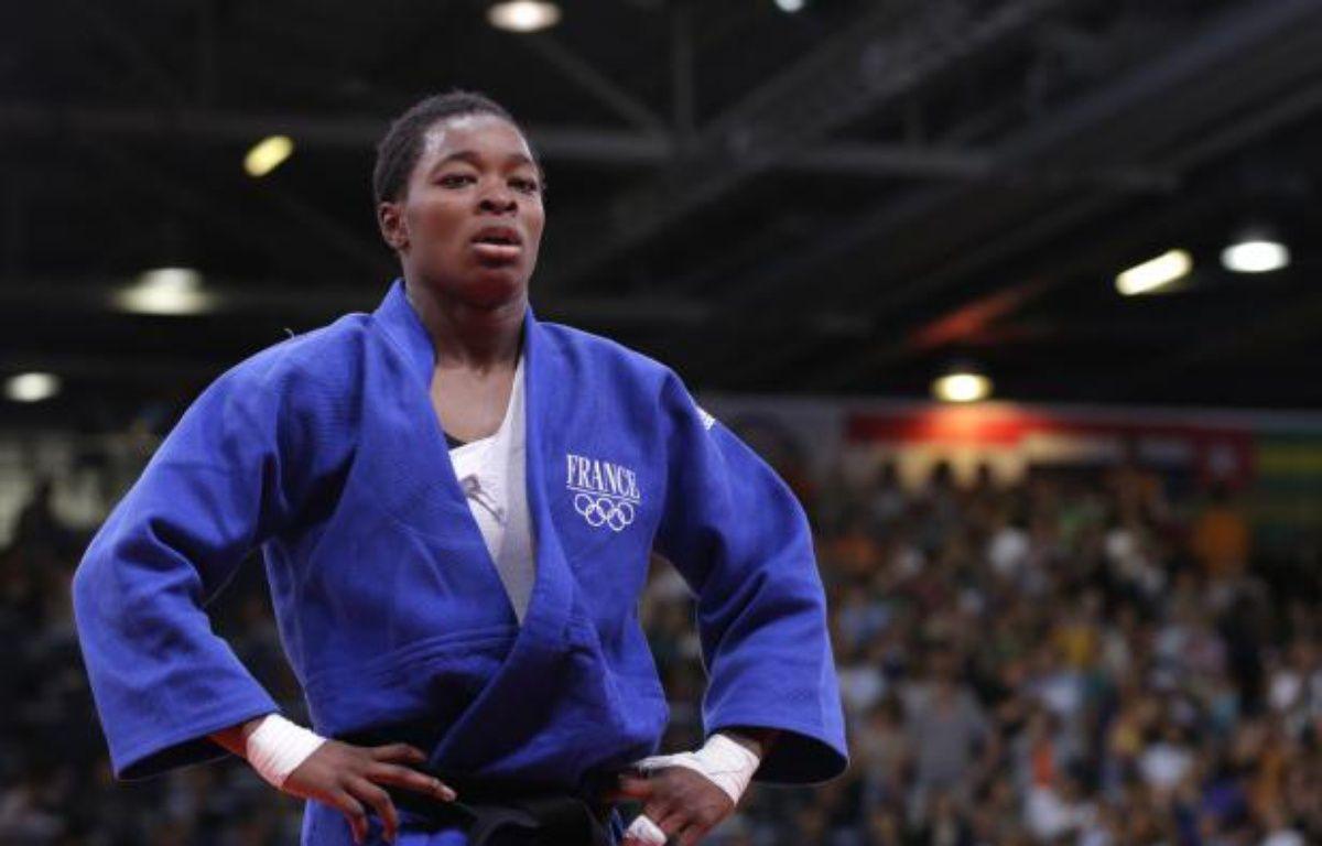 La judoka française Audrey Tcheumeo, lors d'un combat le 2 août 2012 aux Jeux olympiques de Londres. – REUTERS