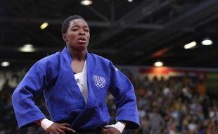 La judoka française Audrey Tcheumeo, lors d'un combat le 2 août 2012 aux Jeux olympiques de Londres.