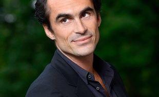 Raphaël Enthoven, philosophe et animateur de télévision et de radio francais, photographié le 25 août 2017 à Chanceaux-près-Loches.