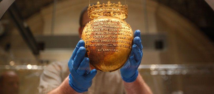 NANTES, 08/04/2014 Le reliquaire du coeur d Anne de Bretagne était exposé au musee de chateau