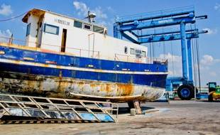 L'homme s'est hissé illégalement en haut d'un ascenseur à bateaux dans le port de la Cotinière, sur l'île d'Oléron (illustration)